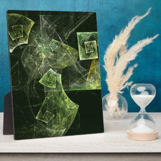 歪んだバランスの抽象美術のプラク フォトプラーク