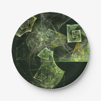 歪んだバランスの抽象美術 紙皿 小