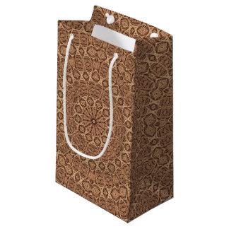 歪んだロープのヴィンテージの万華鏡のように千変万化するパターンの小さいギフトバッグ スモールペーパーバッグ