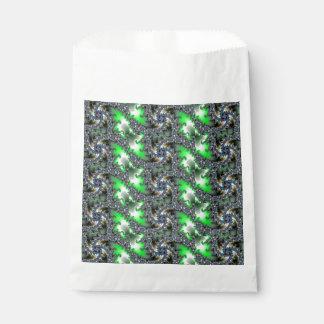 歪んだ渦巻色の抽象芸術 フェイバーバッグ