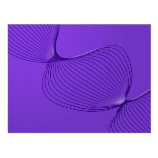 歪んだ紫色の苦痛信号 ポストカード