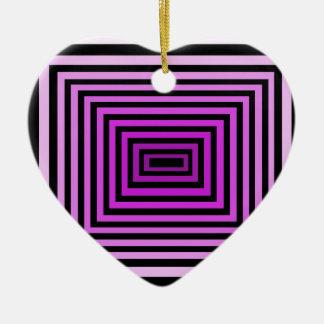 歪んだ頭脳のゲームの目の錯覚の紫色の黒 セラミックオーナメント