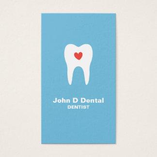 歯およびハートの青い歯科歯科医の名刺 名刺