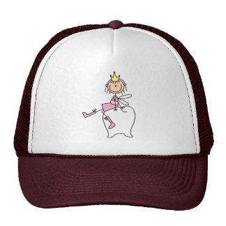歯の妖精は歯の帽子で置かれます キャップ