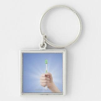 歯ブラシを握る手 キーホルダー