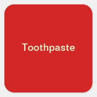 歯磨き粉のラベル スクエアシール