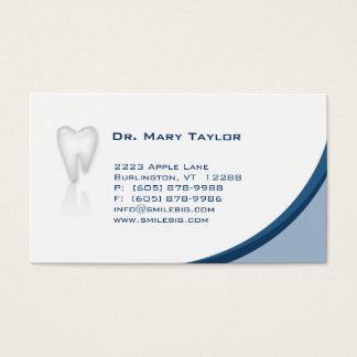 歯科モルの名刺の濃紺のカーブ 名刺