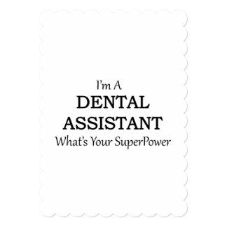 歯科助手 12.7 X 17.8 インビテーションカード