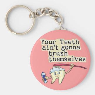 歯科医および歯科衛生士のユーモア キーホルダー