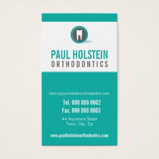 歯科医のアポイントメントカード:: モダンな歯のロゴ2 名刺