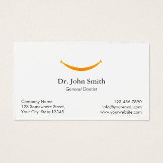 歯科医のシンプルな金ゴールドのスマイルの歯科アポイントメント 名刺