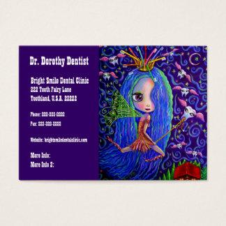 歯科医のビジネスおよびアポイントメントカード歯の妖精 名刺