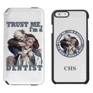 歯科医のユーモアのカスタムなモノグラムのウォレットケース INCIPIO WATSON™ iPhone 5 財布型ケース