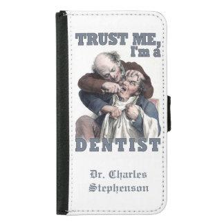 歯科医のユーモアの名前をカスタムするのウォレットケース GALAXY S5 ウォレットケース