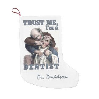 歯科医のユーモアの名前をカスタムするのクリスマスのストッキング スモールクリスマスストッキング