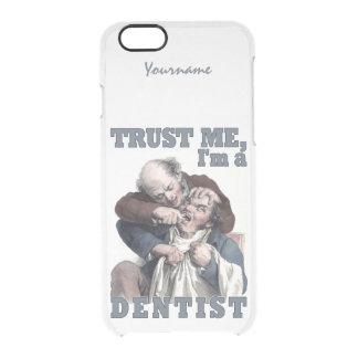 歯科医のユーモアの名前をカスタムするの電話箱 クリアiPhone 6/6Sケース
