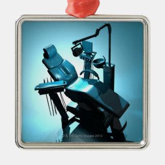 歯科医の椅子、コンピュータアートワーク メタルオーナメント