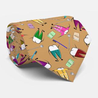 歯科医の歯の人々の芸術の金ゴールド ネクタイ