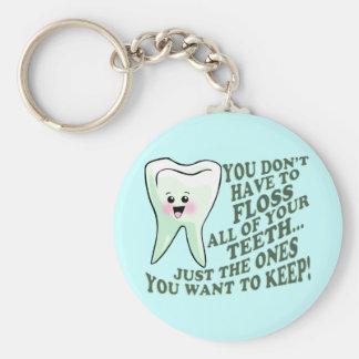 歯科医の歯科衛生士のユーモア キーホルダー
