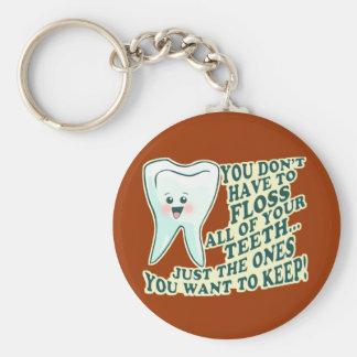 歯科医の衛生士の歯科矯正医 キーホルダー