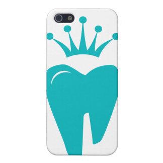 歯科医のiPhoneカバーかわいい歯の王冠のロゴの青 iPhone 5 ケース