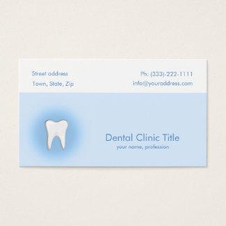 歯科医院のシンプルで青く白い歯カード 名刺