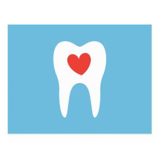 歯科医青い歯科医院のアポイントメントのメモ ポストカード