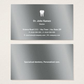 歯科医|のクラシックで写実的な金属 名刺