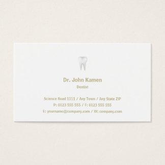 歯科医|のクラシックの金ゴールドの名刺 名刺