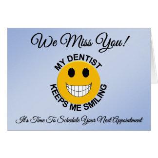 歯科医/歯科忍耐強いアポイントメントのメモカード カード