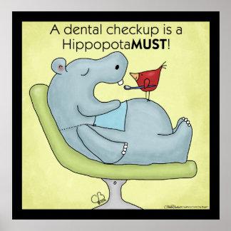 歯科検査のカバ ポスター