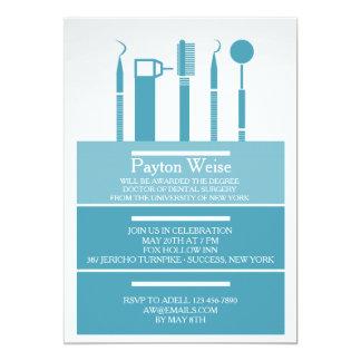 歯科楽器の卒業の招待状 12.7 X 17.8 インビテーションカード