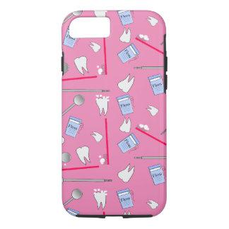 歯科用具の衛生士および技術のピンク iPhone 8/7ケース