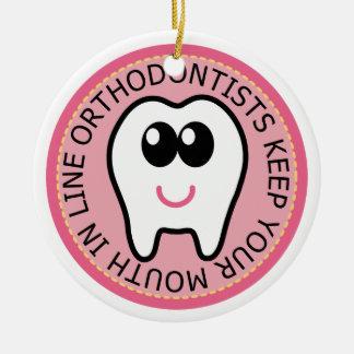 歯科矯正医の歯のオーナメントの記念品のギフト セラミックオーナメント