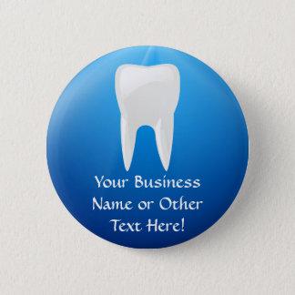 歯科青い突進か歯科医のオフィスボタン 5.7CM 丸型バッジ
