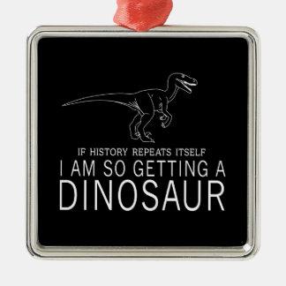 歴史および恐竜 メタルオーナメント