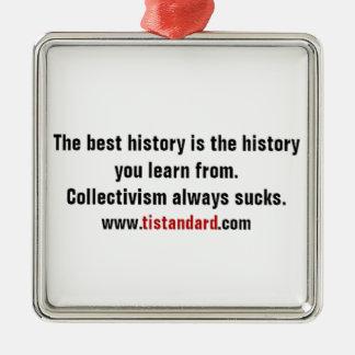歴史から学んで下さい メタルオーナメント