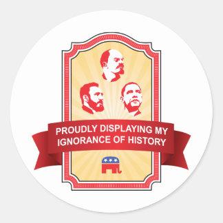 歴史についての共和党員の無知 ラウンドシール
