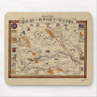 歴史の地図およびワイオミングのロマンス マウスパッド