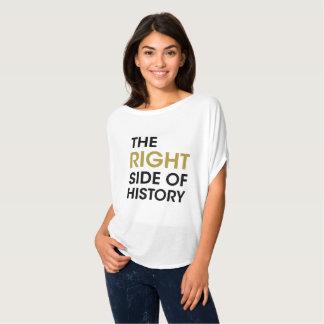 歴史の抗議のワイシャツ-金ゴールドの右側 Tシャツ
