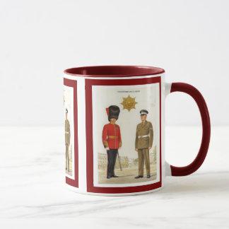 歴史的なイギリス陸軍のユニフォーム、Coldstreamの監視 マグカップ