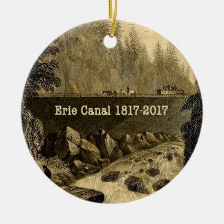 歴史的なエリー運河二百年毎年 セラミックオーナメント