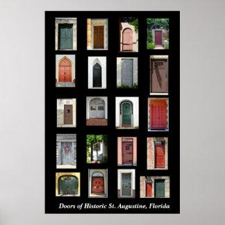 歴史的なセントオーガスティン、フロリダのドア ポスター
