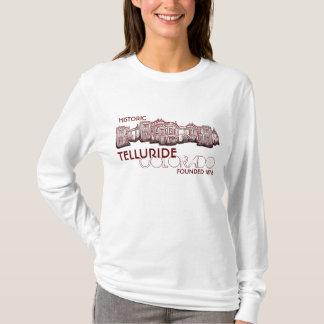 歴史的なテルル化物のコロラド州の古い町の女性フード付きスウェットシャツ Tシャツ