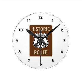 歴史的なルート米国のルート50の(カリフォルニア)印 ラウンド壁時計