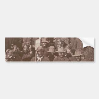 歴史的な写真のバッファローの兵士の第25連隊 バンパーステッカー
