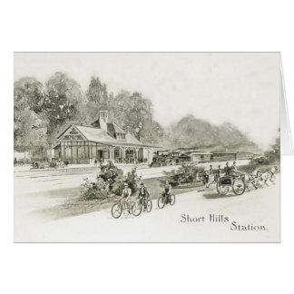 歴史的な最初短い丘NJの駅カード カード