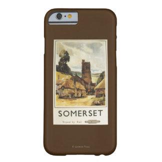 歴史的な村場面イギリスの鉄道ポスター BARELY THERE iPhone 6 ケース