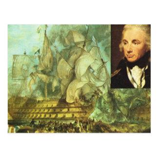 歴史的な船ネルソンおよび勝利 ポストカード