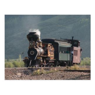 """歴史的な""""Eureka""""はSilverton、コロラド州に蒸気を発します ポストカード"""